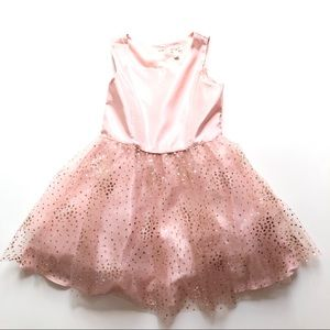 Cat & Jack girls glittery sparkle dress sz Large